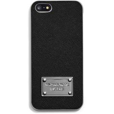 MICHAEL Michael Kors Phone Cover ($40) ❤ liked on Polyvore featuring accessories, tech accessories, phones, phone cases, cases, electronics, black and michael michael kors