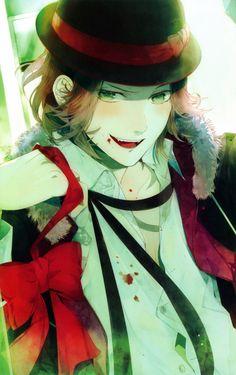 Tags: Scan, IDEA FACTORY, Official Art, Satoi, Diabolik Lovers ~Haunted dark bridal~, Sakamaki Laito, Rejet, Diabolik Lovers Official Visual...