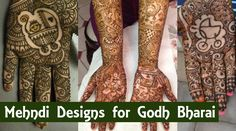 Beautiful mehndi designs for Godh bharai with baby and kid motifs to make your baby shower very special.