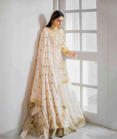 Gown and lehnga Nikkah Dress, Pakistani Bridal Dresses, Pakistani Dress Design, Pakistani Outfits, Indian Dresses, Indian Wedding Outfits, Bridal Outfits, Indian Outfits, Indian Clothes