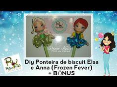 Diy Ponteira de biscuit Anna e Elsa - Frozen Fever + Bônus - YouTube