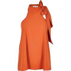 Rust orange halter top