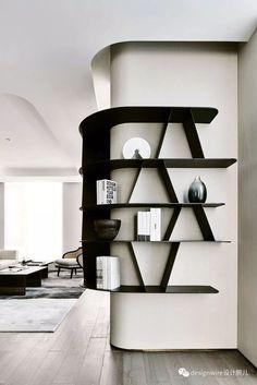 Home Interior Design .Home Interior Design Shelving Design, Bookshelf Design, Display Design, Casa Loft, Wall Bookshelves, Bookcases, Curved Walls, Office Interiors, Interior Design Inspiration