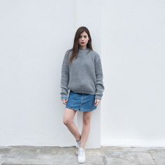 the Fisherman's in Grey knitted sweater cozy by videoclothing