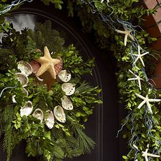 Shell Wreath and Starfish Garland