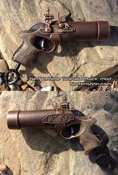 Nerf Flintlock Hand Cannon blaster pistol -  Antique Steampunk / pirate style