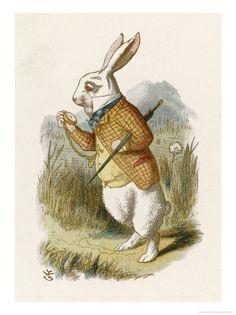 John Tenniel' Alice and the White Rabbit