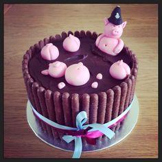 Police Pig Chocolate Cake