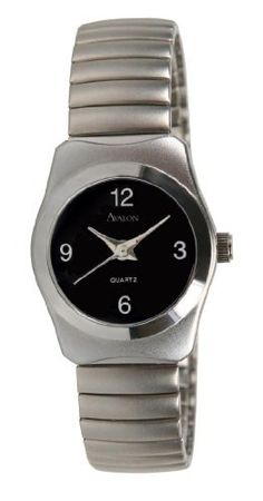 Avalon Women's Petite Classic Stainless Steel Flex Band Watch # 2363 Avalon. $12.95. Accurate Japan Analog Quartz Movement. This watch features a brushed silver tone case and flex band. Gift Boxed. Beautiful bold black dial. Lifetime Limited Warranty. Save 74%!