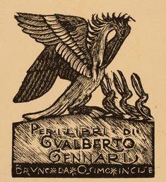 Ex Libris by Bruno da Osimo for Gualberto Gennari
