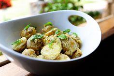 Creamy Lemon Basil Potato Salad--I think this will go nicely with orange-pesto grilled pork chops, don't you?