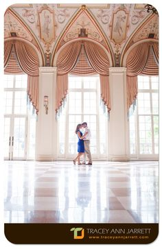 He proposed at The Breakers, Palm Beach, Florida and it was wonderful returning there for their engagement session.  Photography by PhotoNotions Photography, LLC www.tjphotonotions.com #photonotionsphotography #traceyannjarrett