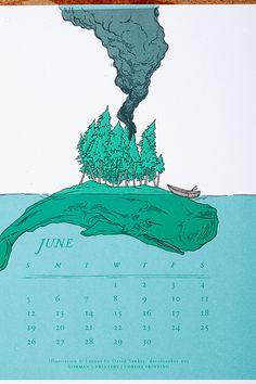 Letterpress Calendar by David Sankey