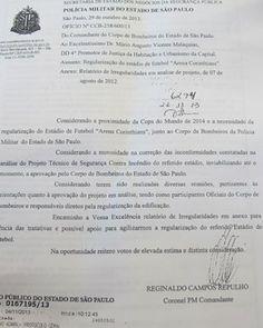 Portal Esporte São José do Sabugi: Arena Corinthians 'não está segura' para ser aprov...