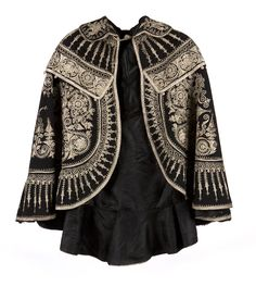 First half century matador cape. Seraphina Picquery, Metal Fashion, Gold Embroidery, Cape Coat, Madrid, Folk Costume, Fashion Branding, Timeless Fashion, Vintage Dresses