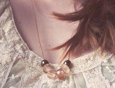 Romantic Autumn peach pendant by Modernism&Vintage
