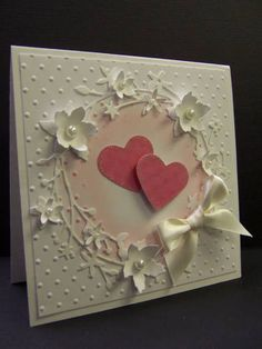 *F4A98 QFTD94 Hearts & Flowers by hobbydujour - Cards and Paper Crafts at Splitcoaststampers