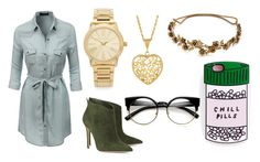 """""""Untitled #73"""" by megan-hinson ❤ liked on Polyvore featuring LE3NO, Gianvito Rossi, Michael Kors and Jennifer Behr"""