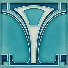 Art Deco Nouveau Ceramic decorative wall tile 6 X 6 Inches #143