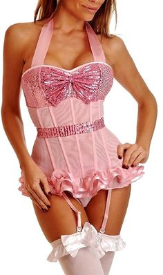 New Arrival Boned Lace up Back Strap Corset BEST SELLER Women Sexy Lingerie Top Bling Ruffles Bustier With G-string