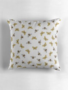 Bee cushion, Bee home decor, Butterfly cushion, brown cushions, Bee gift,Butterflies gift, Bees and butterflies, Butterflies home decor, Bee by ShadowbrightLamps on Etsy https://www.etsy.com/uk/listing/600662247/bee-cushion-bee-home-decor-butterfly