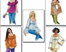 Tunic Tops Pattern, Peasant Top Pattern, Easy Sewing Pattern, Sz 4 to 14, McCall's 5050 sewing pattern