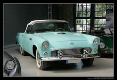 1955 Ford Thunderbird (01) by Georg Schwalbach (GS1311), via Flickr ...to pull my vintage Airstream down Route 66, of course. The '55 Ford Thunderbird is the only car I have ever truly lusted after.