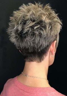 Short Hair Back View, Short Hair Over 60, Shaggy Short Hair, Messy Short Hair, Short Hair Undercut, Short Hair Older Women, Short Hair With Layers, Mature Women Hairstyles, Short Spiky Hairstyles