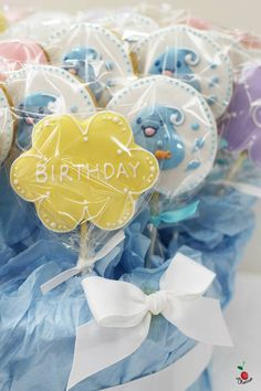 Icing Cookie Bouquet Flower cookies Heart Cookies Great for your special party!