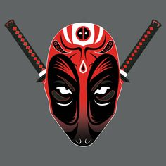 """Kabuki Pool"" by Kannaya is $10 today at ShirtPunch.com (02/26). #tshirt #deadpool #marvel #kabuki #antihero #4thwall"