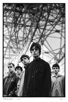Oasis: Paul Arthurs, Tony McCarroll, Noel Gallagher, Liam Gallagher and Paul McGuigan, Oasis Band, Musica Oasis, Culture Pop, Band Photography, Band Pictures, Rock Band Photos, Britpop, Forever, Music Icon