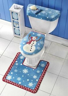 3pcs/lot Christmas Decorations 2016 For Home Santa Toilet Seat Cover Rug Bathroom Se Santa Claus Merry Christmas Ornament - GKandAa