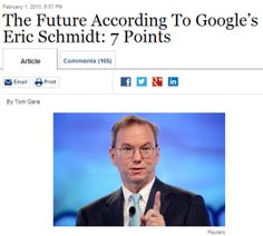 Future of Search according to Eric Schmidt