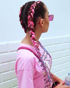 Jednorozec 🌸🦄🌸🦄🌸 #wakoczyki #warkocze #warkoczesyntetyczne #dobierane #holenderskie #zaplecione #cornrows #braids #wersow #braidsgirl #girl #polishgirl #summerhair #summer Holiday Hairstyles, Braided Hairstyles, Cool Hairstyles, Galaxy Hair Color, Two Braids, Coloured Hair, Cool Hair Color, Hair Pictures, Synthetic Hair