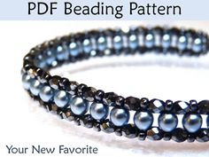 Beaded Bracelet Tutorials, Bead Stitching Tutorials, Bracelet Patterns, Seed Beads, Pearls, Tutorial, Right Angle Weave on Etsy, $6.00