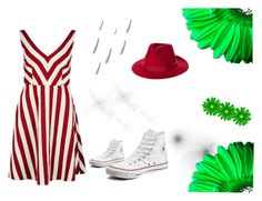 """""""Green und Red"""" by erna-huremovic ❤ liked on Polyvore featuring RED Valentino, Converse and Brixton"""