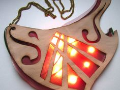 Sound-reactive LED necklace is funky fashion: an eye-catching necklace that flashes to the beat of any music it hears