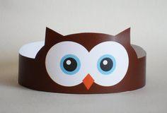Owl Paper Crown - Printable
