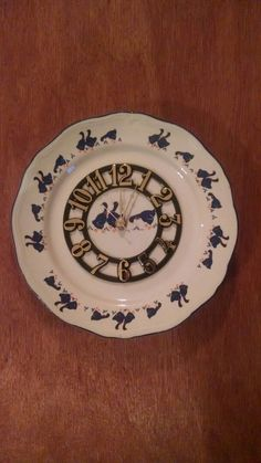 Blue Ducky Dinner Plate Size Clock & Details about Gorgeous Swirling Medium Blue Gold Face Stained Glass ...