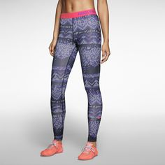 Nike Hyperwarm leggings - love the blue and coral together
