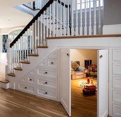 hidden room under stairs – Dream House Diy Casa, Design Case, House Goals, Dream Rooms, Home Fashion, 90s Fashion, My Dream Home, Home Interior Design, Room Interior