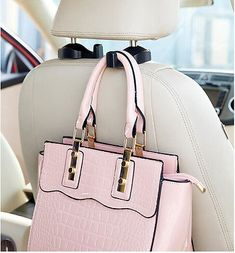 Fashion Convenient Auto Car Vehicle Seat Hanger Holder Hook Bag Coat Organizer. Seriously how smart and cool is that?!