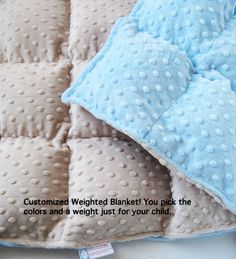 Weighted toddler blanket. Maddy has one of these for now. Saving tutorials for later