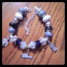 UConn Huskies Inspired European Charm Bracelet UConn Huskies Inspired European Charm Bracelet - NCAA, March Madness.  No trades please use offer button Jewelry Bracelets