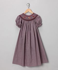 Take a look at this Maroon Football Bishop Dress - Toddler & Girls by Rosalina on #zulily today!