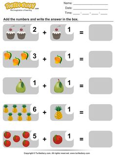 Addition within Twenty Worksheet Addition And Subtraction Practice, Math Addition, Kids Math Worksheets, Preschool Activities, Learning Time, Math For Kids, Kindergarten Math, Pre School, Count