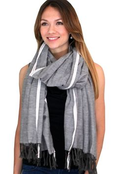 oversized cotton scarf example, grey color +