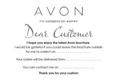 """""""FREE Avon TEMPLATES .. brochure drop note flyer postcard"""" Thank you to uploader, I'll take from this"""