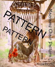 Vintage Style Handmade Macrame PATTERN ONLY Hanging by MajikHorse