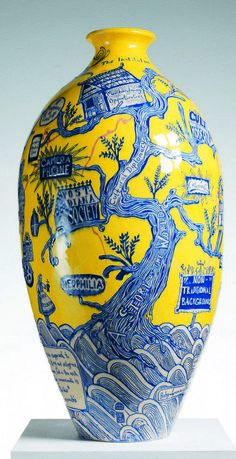 """Grayson Perry: """"I love fakes for they make us think about what it is we see in the authentic. About how much of our awe in front of a great historical artefact is in its inherent beauty and how much is to do with its auspicious provenance."""""""